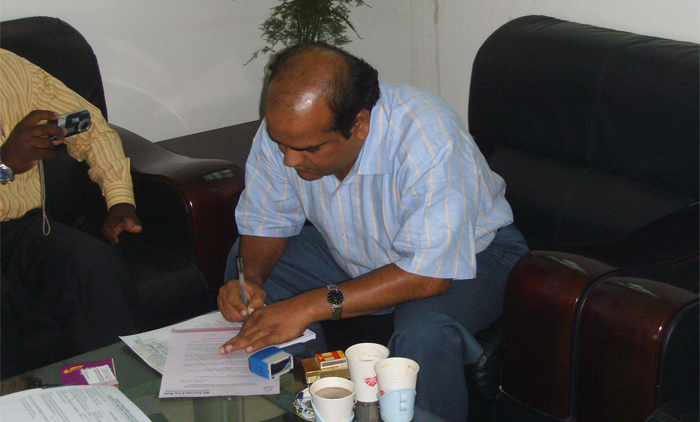 Signature of Contract